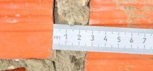 Толщина вертикальных швов кладки