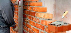 связи кирпичных перегородок со стеной