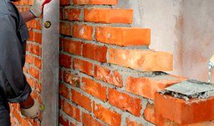 Cвязи кирпичных перегородок со стеной